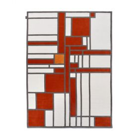 tapis moderne louis herman de koninck rouge - angelo