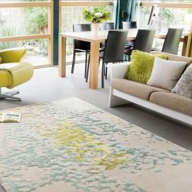 tapis gris en laine coral arte espina tufté main