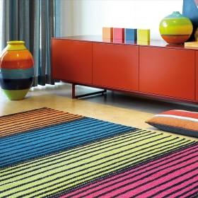 tapis multicolore en laine euphoria arte espina