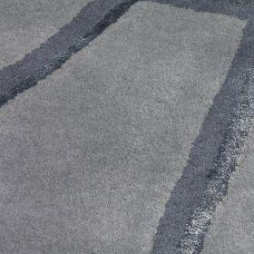 tapis bleu moderne grid arte espina