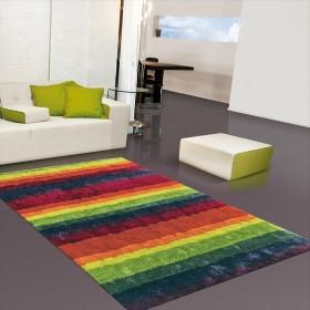 tapis shaggy funky multicolore arte espina