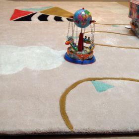 tapis enfant cerf-volant tufté main art for kids