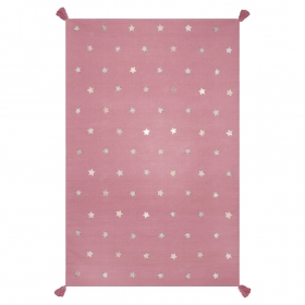 tapis pour enfant art for kids etoiles rose