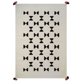 tapis enfant en laine de nouvelle-zélande noeuds papillon art for kids
