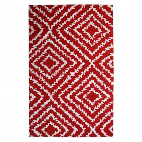 tapis tufté main banha rouge the rug republic