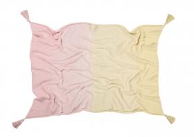 couverture bébé ombré vanilla / soft pink - lorena canals
