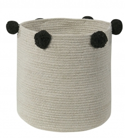 panier en coton natural black - lorena canals