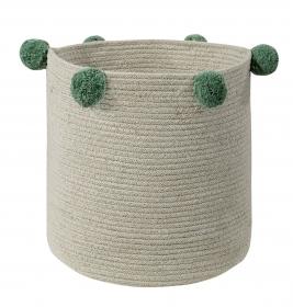 panier en coton natural green - lorena canals