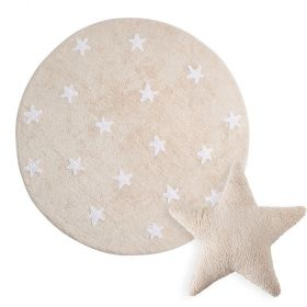 tapis cielo anthracite et coussin stars beige lorena canal