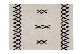 tapis lavable atlas naturel s - noir