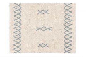 tapis lavable atlas naturel vintage s - bleu