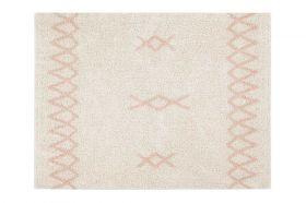 tapis lavable atlas naturel vintage s - rose