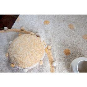 tapis lavable hippy dots naturel s - miel