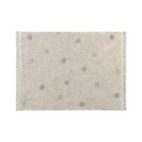 tapis lavable hippy dots naturel s - olive