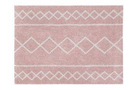 tapis lavable oasis naturel - vintage rose