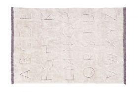 tapis lavable en cotton rugcycled abc m