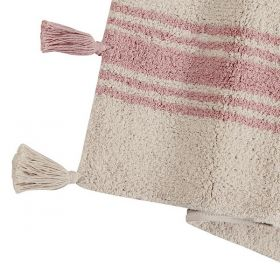 tapis enfant stripes rose lorenal canals
