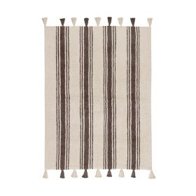 tapis enfant stripes marron lorenal canals