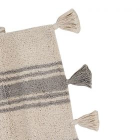 tapis enfant stripes gris lorenal canals