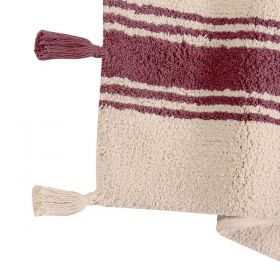 tapis enfant stripes rouge lorenal canals