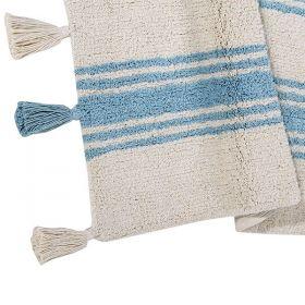 tapis enfant stripes bleu lorenal canals