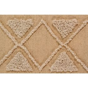 tapis lavable tribu couleur miel m - 140 x 200