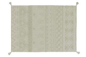 tapis lavable tribu olive m - 140 x 200