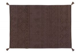 tapis lavable tribu soil marron m - 140 x 200