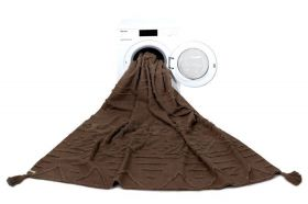 tapis lavable tribu soil marron s - 120 x 160