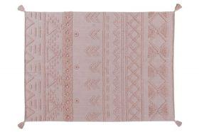 tapis lavable tribu vintage rose naturel l - 170 x 240
