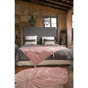 tapis lavable tribu vintage rose naturel s- 120 x 160