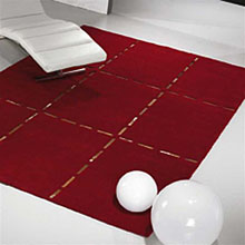 tapis christopher en laine rouge carving
