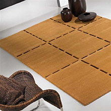 tapis christopher en laine ocre carving