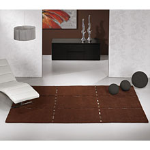 tapis en laine marron christopher carving