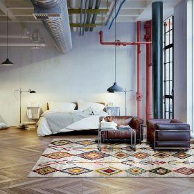 tapis medina multicolore moderne wecon