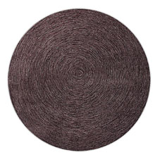 tapis esprit home moderne rond colour in motion marron