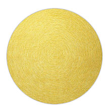 tapis moderne rond colour in motion esprit home jaune