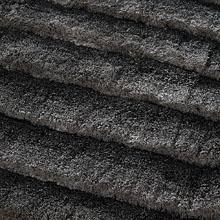 tapis shaggy gris foncé dune home spirit