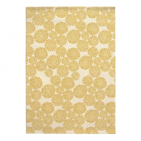 tapis blooming flowers jaune edito paris
