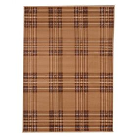 tapis moderne beige check flair rugs
