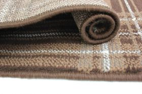 tapis moderne marron check flair rugs