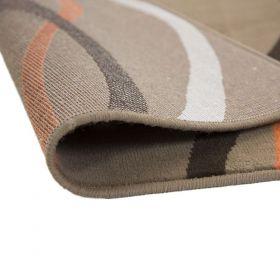 tapis moderne marron curve flair rugs