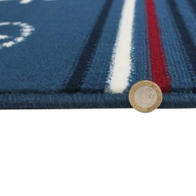 tapis moderne bleu nautical flair rugs