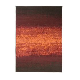 tapis moderne rouge et orange ombre flair rugs