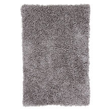 tapis shaggy gris platine love