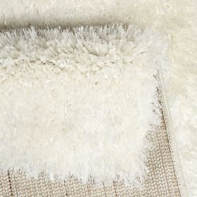 tapis shaggy rond spa blanc esprit