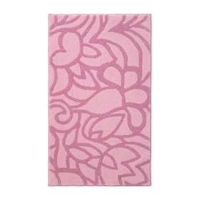 tapis de bain rose esprit home flower shower