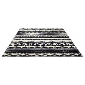 tapis noir et blanc oasis esprit home