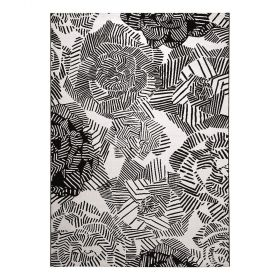 tapis moderne rosia noir et blanc