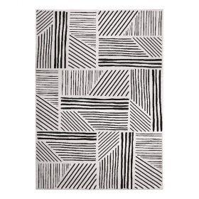 tapis moderne graphics noir et blanc